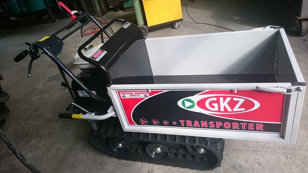 Motocariola GKZ portata 300Kg,ribaltamento cassone manuale.